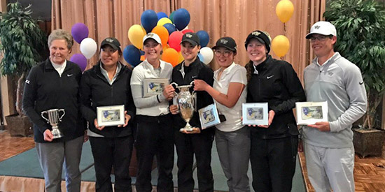 Jennifer Kupcho (third from left) and Wake Forest sweep the hardware (WFU photo)