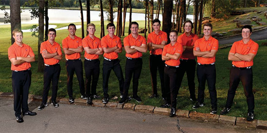 The Oklahoma State men's golf team (OkSt photo)