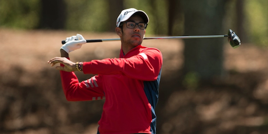 Akshay Bhatia overcomes an early double-bogey to lead <br>(Golfweek Photo)