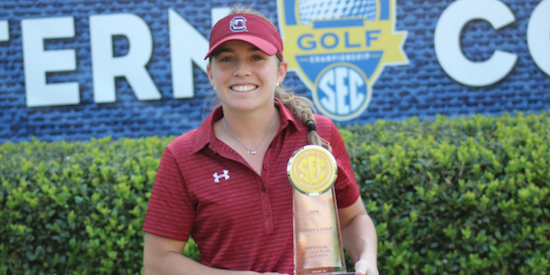 South Carolina senior Ainhoa Olarra earned medalist honors <br>(South Carolina Athletics Photo)