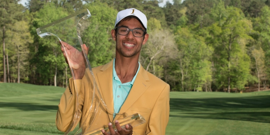 Akshay Bhatia held onto win by a stroke <br>(Golfweek Photo)
