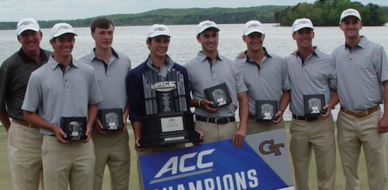 Georgia Tech after ACC title No. 17 <br>(Georgia Tech Athletics Photo)