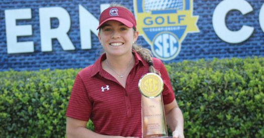 Medalist winner Ainhoa Olarra <br>(South Carolina Athletics Photo)