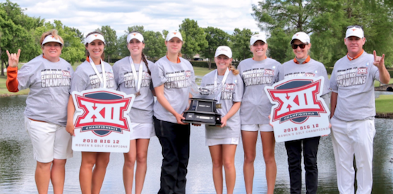 Hook'em horns have won a second straight Big 12 Women's title <br>(Texas Athletics Photo)