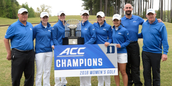 For the 21st time Duke has won the ACC crown <br>(Duke Athletics Photo)