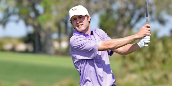 Nathan Jeansonne led LSU to the lead on Thursday with a 4-under 66 <br>(LSU Athletics Photo)