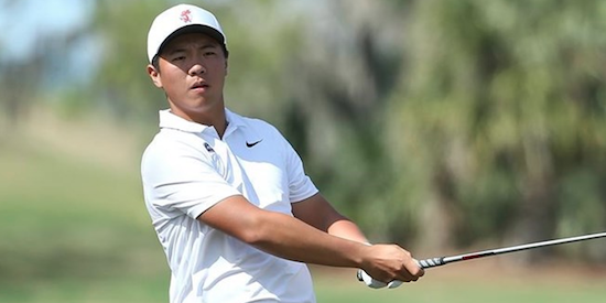 Medalist winner Andy Zhang of Florida <br>(Florida Athletics Photo)
