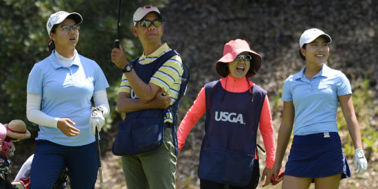 Yachun Chang (L) and Lei Ye (R) (J.D. Cuban/USGA photo)