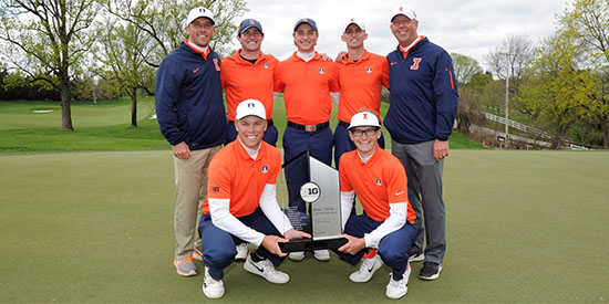 The Illinois Men's Golf Team (Illinois Athletics photo)