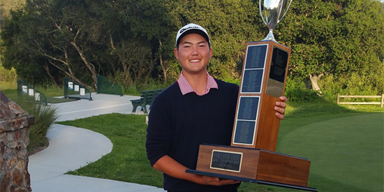 Moses Greene adds his name to the trophy (Lake Chabot photo)