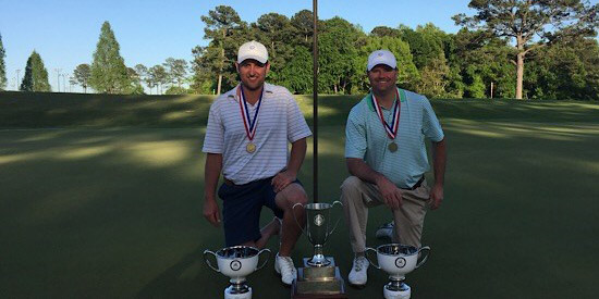 Clay Guerin of Hoover (L) and Will Swift of Vestavia Hills (R)<br>(Alabama Golf Association photo)