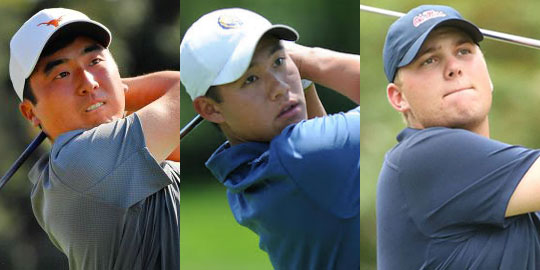 From L-R: Doug Ghim, Collin Morikawa, Braden Thornberry