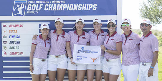 The University of Arkansas women's golf team (Texas Sports Information photo)
