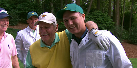 The world got to know G.T. Nicklaus at the Masters Par 3 Contest (Masters screenshot)
