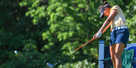 Kent State's Pimnipa Panthong on day two of the NCAA Women's Championship <br>(Photo courtesy of Kent State Athletics)