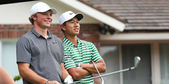 Frankie Capan and Shuai Ming (Ben) Wong (USGA photo)