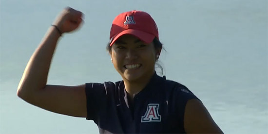 Bianca Pagdanganan kept Arizona's season alive (Golf Channel screenshot)