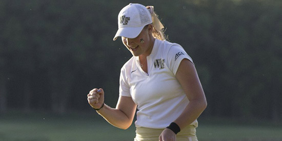 Jennifer Kupcho showed her grit and determination (Wake Forest photo)