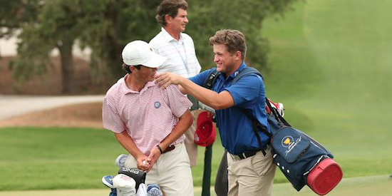 Junior stars Cole Hammer (L) and Garrett Barber (R) continue to impress <br>(USGA Photo)