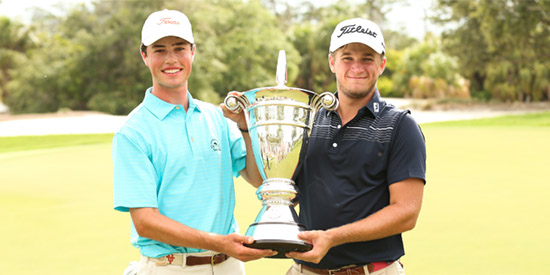 Cole Hammer (L) and Garrett Barber, USGA champions (USGA photo)