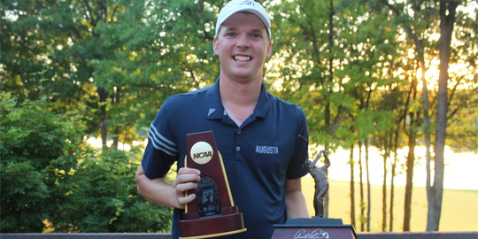 Broc Everett, the 2017-18 NCAA champion (Augusta University photo)