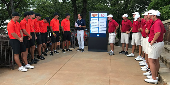 They faced off at the draw; they next face off on the course (OkSt photo)