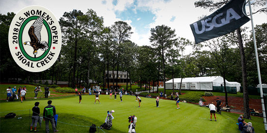 The 29 ams in the field will face a wet golf course at Shoal Creek (USGA photo)
