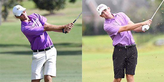 Jacob Bergeron (L) and Philip Barbaree (LSU photos)