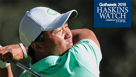 Norman Xiong joins Tiger Woods as Haskins Award winners