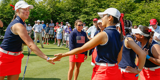 It was all red, white and blue on Saturday morning (USGA photo)