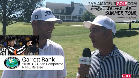 Garrett Rank will be the talk of the U.S. Open at Shinnecock (AGC video screenshot)