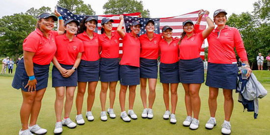 It was a victory parade for the U.S. at Quaker Ridge (USGA photo)