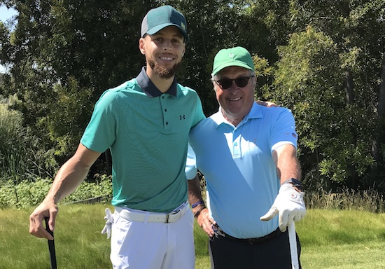 Stephen Curry shot 71 playing with George Kelley of Greenway Golf