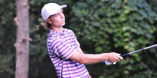William Moll watches a shot during day three of the Texas Amateur <br>(TXGA Photo)