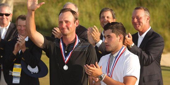 U.S. Open low amateurs Matt Parziale (L) and Luis Gagne (USGA photo)