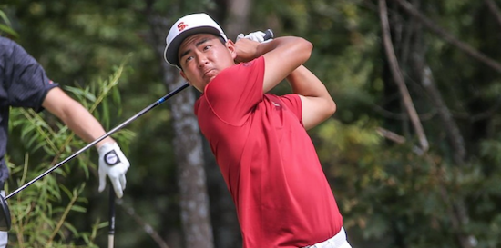 First round co-leader Justin Suh <br>(USC Athletics Photo)