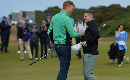 Ireland's Robin Dawson made the final with a 3&2 victory over countryman Jack Purcell<br>photo courtesy The R&A