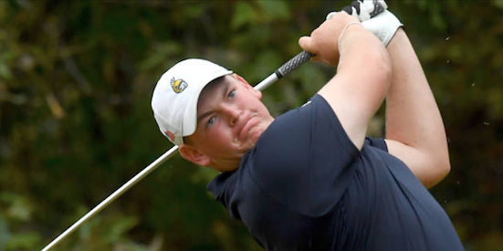 54-hole leader Jonathan Brightwell <br>(UNCG Greensboro Athletics Photo)
