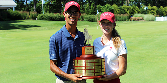 Akshay Bhatia (L) and Rachel Heck (AJGA photo)