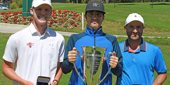 Champion Nick Moore with Slesinski (L) and Cohn (R) (NCGA photo)