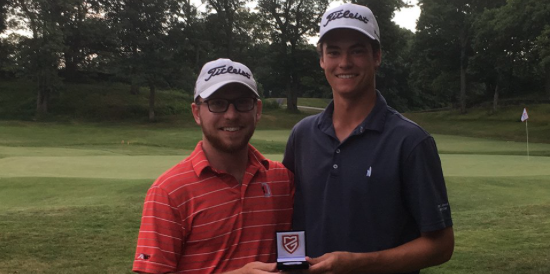 Jackson Lang (L) and Andrew O'Leary (R) share medalist honors <br>(MGA Photo)