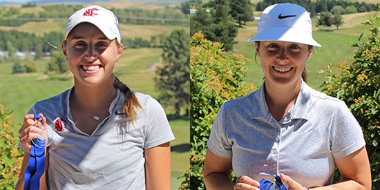 Alivia Brown (left) and Amanda Jacobs (PNGA photo)