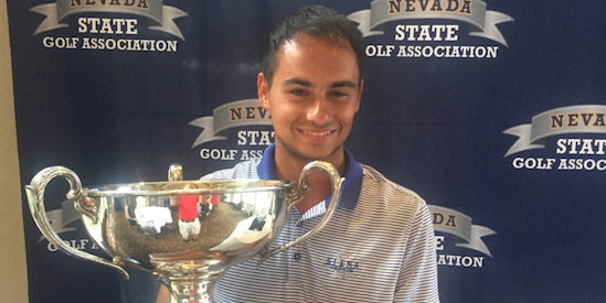 Nevada State Amateur winner Alex Jordan <br>(SNGA Photo_