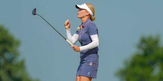 Patricia Ehrhart leads the ams after 36 holes (USGA photo)