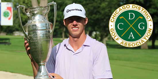 2018 Illinois State Am Champion Jordan Hahn (CDGA photo)