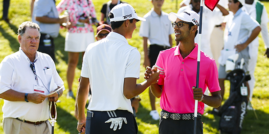 Michael Thorbjornsen and Akshay Bhatia (USGA photo)