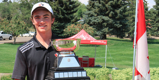 Champion Christopher Vandette <br>(Photo Credit Andrew Penner/ Golf Canada)
