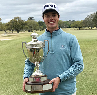Cole Hammer with the Azalea trophy