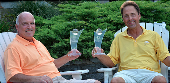Joe Butto (L) and Byron Whitman (R) are all smiles after their title on Thursday <br>(GAP Photo)