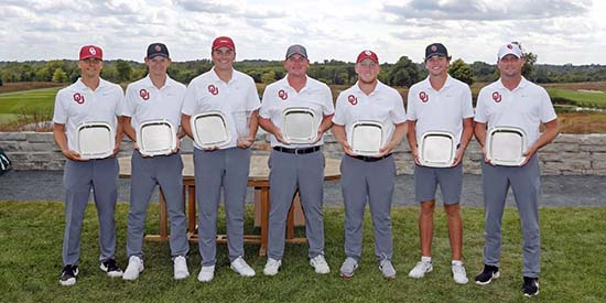 Oklahoma's men won the Gopher Invitational on Sept. 10 (Oklahoma photo)